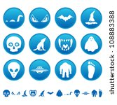 mysterious icons. raster... | Shutterstock . vector #108883388