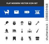 modern  simple vector icon set... | Shutterstock .eps vector #1088834468