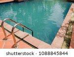 swimming pool beautiful in...   Shutterstock . vector #1088845844