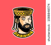 king head sports logo mascot  | Shutterstock .eps vector #1088848574