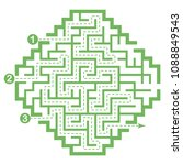 illustration with labyrinth ... | Shutterstock .eps vector #1088849543