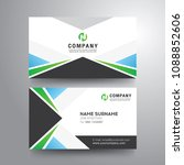 modern business card with... | Shutterstock .eps vector #1088852606