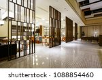 hotel lobby interior with...   Shutterstock . vector #1088854460