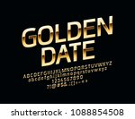 vector chic sign golden date.... | Shutterstock .eps vector #1088854508