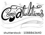 congratulations classic font ...   Shutterstock .eps vector #1088863640