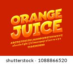 vector bright sign orange juice.... | Shutterstock .eps vector #1088866520