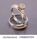 solitaire ring bride | Shutterstock . vector #1088869394