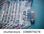 aerial shooting of large... | Shutterstock . vector #1088870678