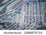 aerial shooting of cargo area... | Shutterstock . vector #1088870714