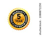 vector warranty icon for...   Shutterstock .eps vector #1088872250