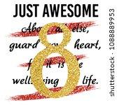 stylish trendy slogan tee t... | Shutterstock .eps vector #1088889953
