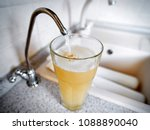 bad water is poured from the... | Shutterstock . vector #1088890040