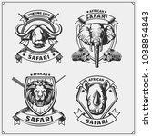 set of african animals emblems. ... | Shutterstock .eps vector #1088894843