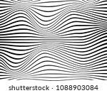 warped black lines.curve black... | Shutterstock . vector #1088903084