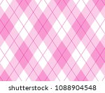 pink and white argyle background | Shutterstock .eps vector #1088904548