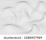 warped lines.overlay lines... | Shutterstock . vector #1088907989
