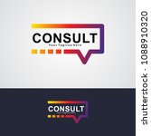 abstract consult logo vector... | Shutterstock .eps vector #1088910320