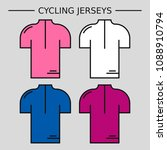 types of cycling jerseys. four... | Shutterstock .eps vector #1088910794