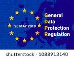 gdpr   general data protection... | Shutterstock . vector #1088913140
