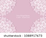 invitation or card template... | Shutterstock .eps vector #1088917673