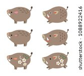 chinese zodiac animal  cute... | Shutterstock .eps vector #1088922416