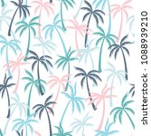 coconut palm tree pattern... | Shutterstock .eps vector #1088939210