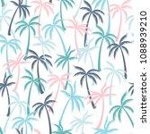 coconut palm tree pattern... | Shutterstock .eps vector #1088939210
