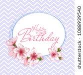 happy birthday vector card.... | Shutterstock .eps vector #1088939540