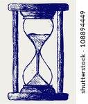 hourglass sketch   Shutterstock .eps vector #108894449