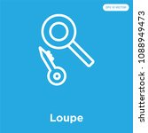 loupe vector icon isolated on... | Shutterstock .eps vector #1088949473