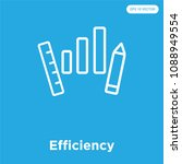 efficiency vector icon isolated ... | Shutterstock .eps vector #1088949554