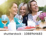 three female friends in their... | Shutterstock . vector #1088964683