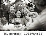 one summer evening friends... | Shutterstock . vector #1088964698