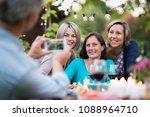 one summer evening friends... | Shutterstock . vector #1088964710