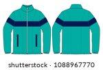 jacket design vector turquoise...   Shutterstock .eps vector #1088967770