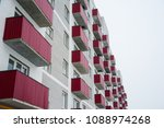 brand new apartment building... | Shutterstock . vector #1088974268