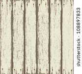 Old Wooden Fence. Vector...