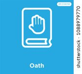 oath vector icon isolated on... | Shutterstock .eps vector #1088979770