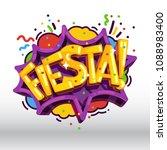 fiesta inscription holiday... | Shutterstock .eps vector #1088983400