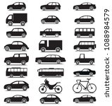 side view vehicle collection... | Shutterstock .eps vector #1088984579