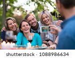 some friends in their forties... | Shutterstock . vector #1088986634