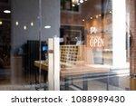 open wooden sign broad through...   Shutterstock . vector #1088989430