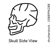 skull side view icon isolated... | Shutterstock .eps vector #1088996288