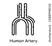 human artery icon isolated on... | Shutterstock .eps vector #1088998010