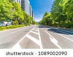 fresh green and buildings in... | Shutterstock . vector #1089002090