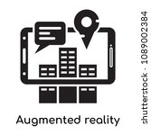 augmented reality icon isolated ... | Shutterstock .eps vector #1089002384