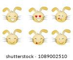 set of emoticons. set of emoji. ...   Shutterstock .eps vector #1089002510