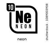neon symbol periodic table... | Shutterstock .eps vector #1089003908