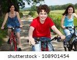 active family biking | Shutterstock . vector #108901454