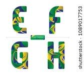 vector graphic alphabet in a... | Shutterstock .eps vector #1089017753